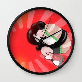 Sushi girl goes to Japan Wall Clock