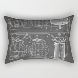 Brewery Patent - Beer Art - Black Chalkboard Rectangular Pillow