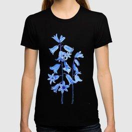 botanical bluebell flowers watercolor T-shirt