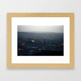 Edinburgh, by Night Framed Art Print