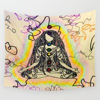 chakra Wall Tapestries featuring chakra Dreads by Bethany Katarina Art