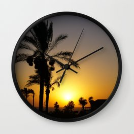 Sunset in Holy Land Wall Clock