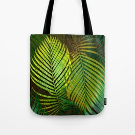 TROPICAL GREENERY LEAVES Tote Bag