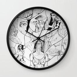 Shaman spiritual connection Wall Clock