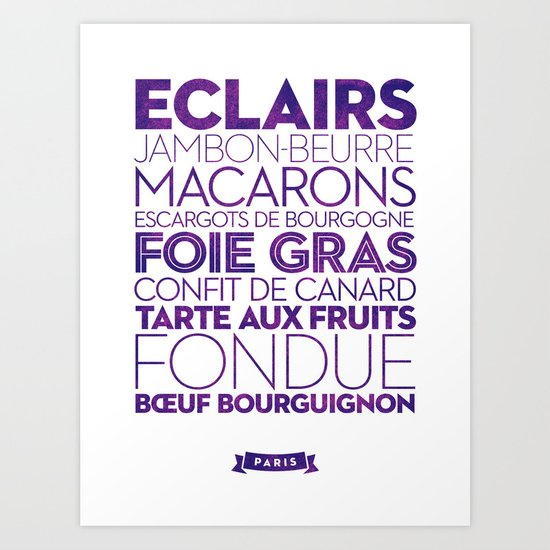 Paris — Delicious City Prints Art Print