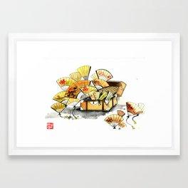 CHINESE FANFARE Framed Art Print