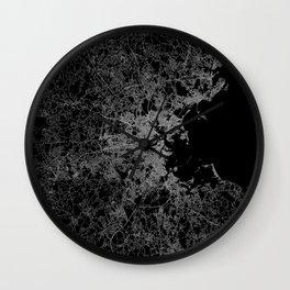 Boston map Wall Clock
