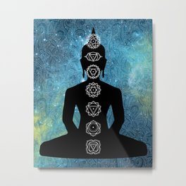 Sacred Geometry - Chakras Aligned Metal Print