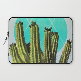 Cactus - Minimal Cactus Poster - Desert Wall Art - Tropical, Botanical - Blue, Green - Modern Laptop Sleeve