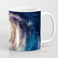 erotic Mugs featuring Spiral Galaxy by Zavu