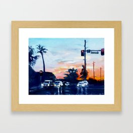 Triple Digits Framed Art Print
