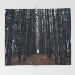 Cathedral of Pines Throw Blanket