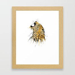 This leopard karate design is the perfect gift for martial artists who loves Taekwondo or Kung Fu Framed Art Print