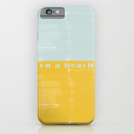 On a Beach Mint Yellow Watercolor iPhone & iPod Case