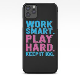 Play Hard iPhone Case