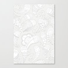 Ghostly Paisley: Dust to Dust Canvas Print