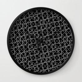 Geometric Grunge Pattern Wall Clock