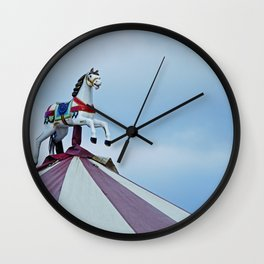 Little horse above a Carousel Wall Clock