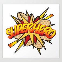 Comic Book Pop Art SUPERHERO Art Print