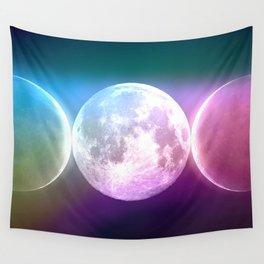 Moon Triple Goddess Rainbow Wall Tapestry