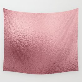 Pure Rose Gold Pink Wall Tapestry