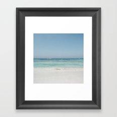 Crash Into The Sea Framed Art Print