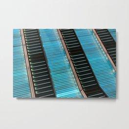 Neon Zoom Metal Print