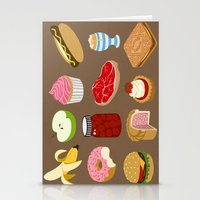 food Stationery Cards featuring Food by John Holcroft