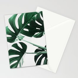 Monstera, Leaves, Plant, Green, Scandinavian, Minimal, Modern, Wall art Stationery Cards