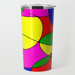 ABSTRACT CURVES #1 (Multicolor Bright) Travel Mug