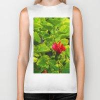 hibiscus Biker Tanks featuring Hibiscus by Rachel Butler