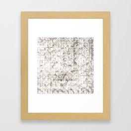 Ink Stitch: Cream Howlite Framed Art Print