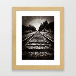 Slow train to forever Framed Art Print