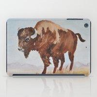 buffalo iPad Cases featuring Buffalo by TheWildPlum