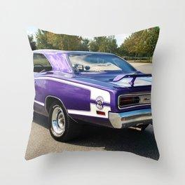 1970 Plum Crazy Coronet Super Bee No. 2 Throw Pillow