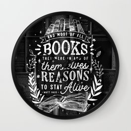 Reasons to stay alive Wall Clock
