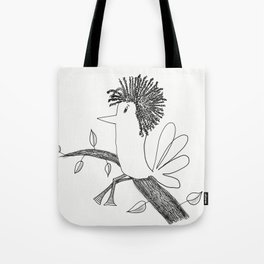Sitting On A Tree Tote Bag