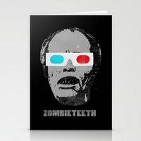gore Stationery Cards featuring Bubs 3D Zombie Gore-athon by Iamzombieteeth Clothing