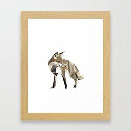 the sad fox Framed Art Print