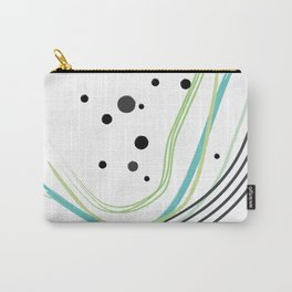 Green Dots Rainbow Carry-All Pouch