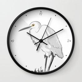 Grey Heron Minimalist Wall Clock