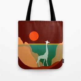 Giraffe Aquatic Scene Tote Bag