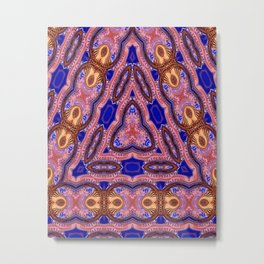 Mysterious Silk Road Abstract Pattern Metal Print