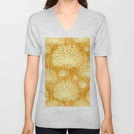 Yellow Dandelions Unisex V-Neck