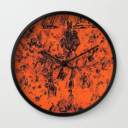 rose japonaise Wall Clock