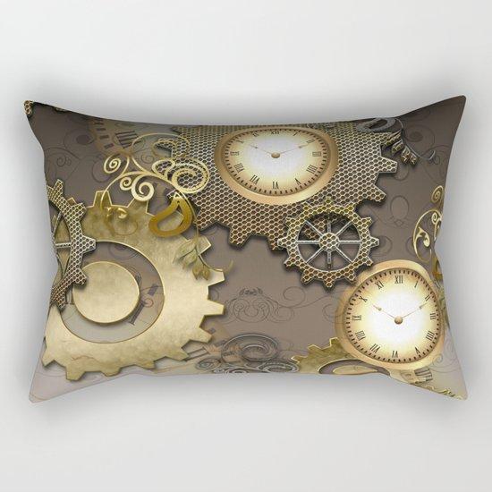 Abstract mechanical design Rectangular Pillow