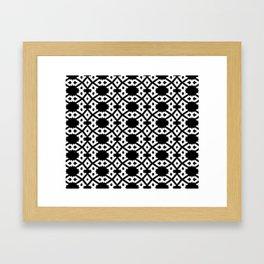 Repeating Circles Black and White Framed Art Print