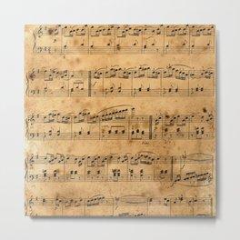 Music sheet Metal Print