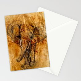 Elephant never forgets Stationery Cards
