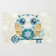 Winter Wonderland Owl Rug